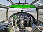 Interior cockpit with green and machines