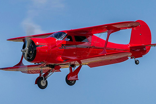 Vintage plane red Staggerwing 01