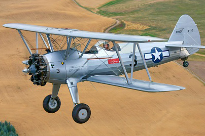 Vintage plane Stearman 01