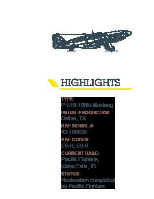 Highlights P51B 10Na Mustang