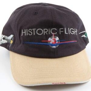 Black and tan historic flight cap