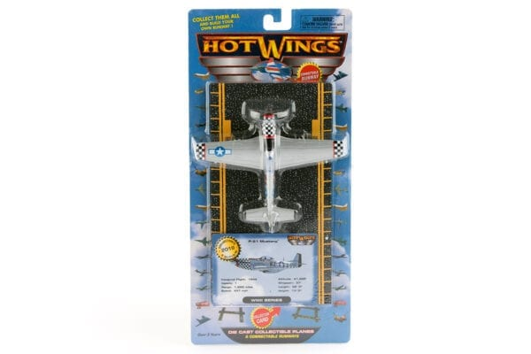 Silver Hot Wings P51 Toy Airplane