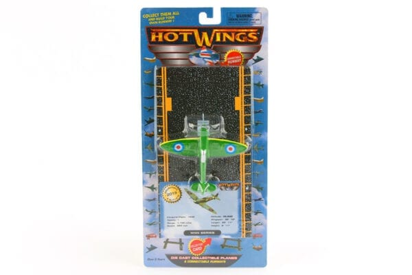 Green Hot Wings Spitfire Toy Plane