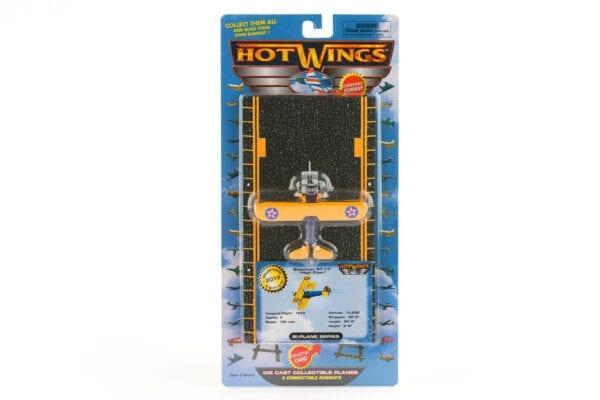 Yellow Hot Wings Stearman Toy Plane