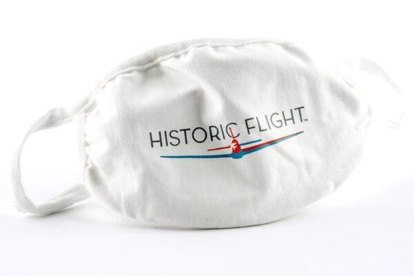 White historic flight face mask